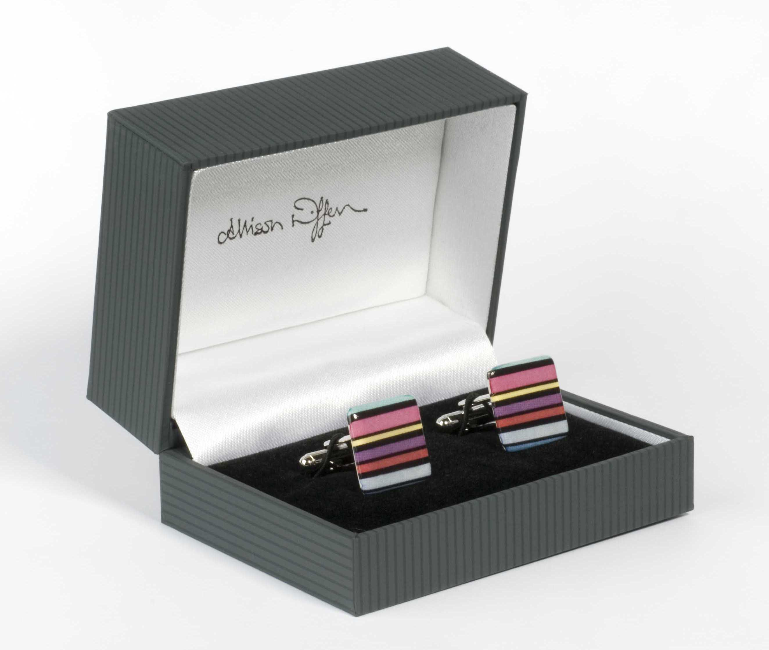 Allison Wiffen cufflinks and box